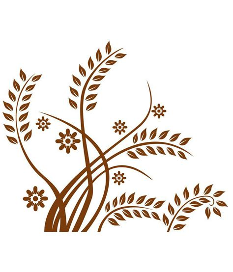 brown leaf pattern chipakk brown leaf pattern wall sticker medium buy