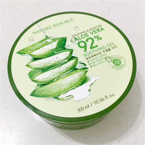 Nature Republic Aloe Vera Soothing Gel Hair Treatment nature republic soothing moisture aloe vera 92 favful