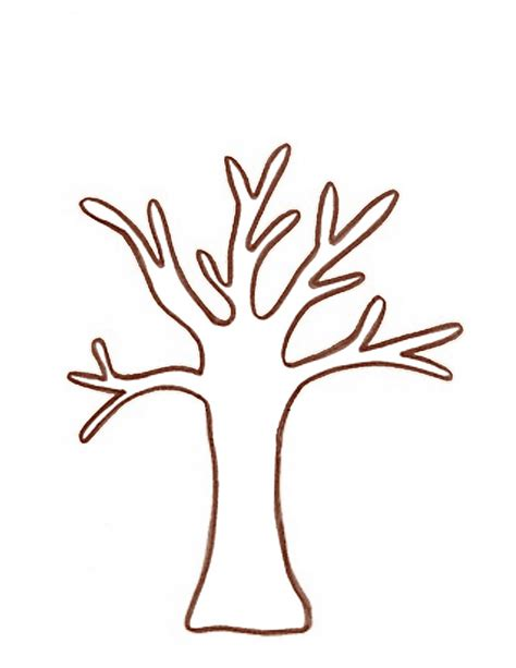 tree trunk with branches template tree template printable clipart best