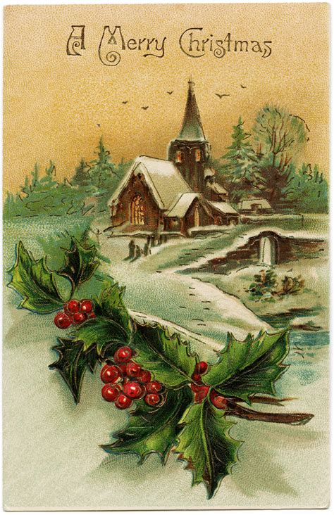 vintage christmas cards vintage christmas holly on pinterest vintage