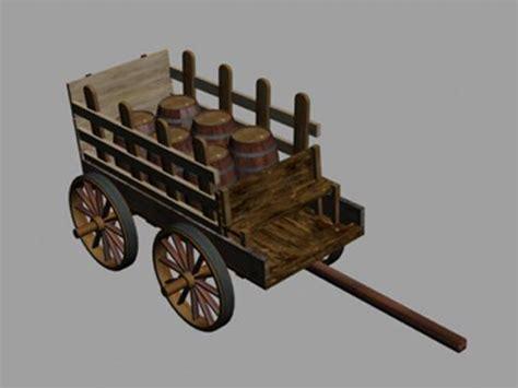 Horse Barn Designs wooden cart for barn wagon telega 3ds 3d studio
