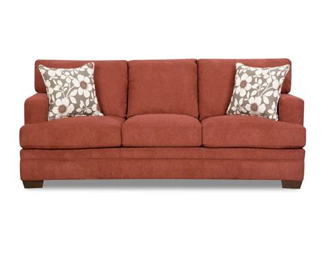 simmons sofa warranty simmons upholstery 6491s mulberry red chicklet