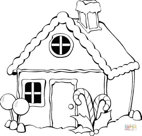 coloring page christmas house christmas gingerbread house coloring page free printable
