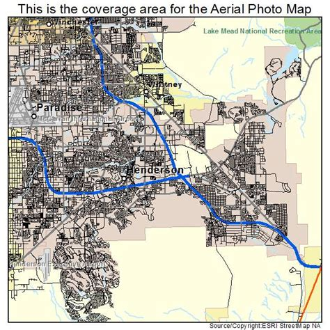 aerial photography map of henderson nv nevada