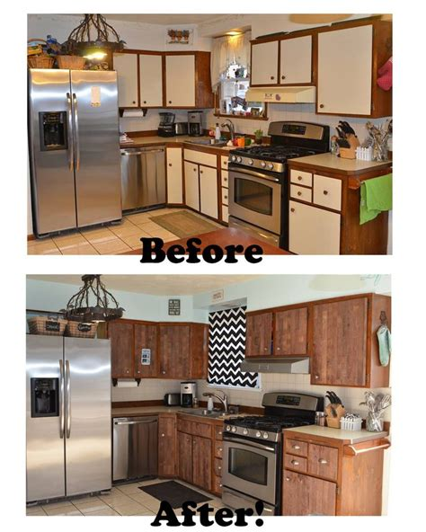 re laminate kitchen cabinets stikwood before and after kitchen makeover ugly laminate