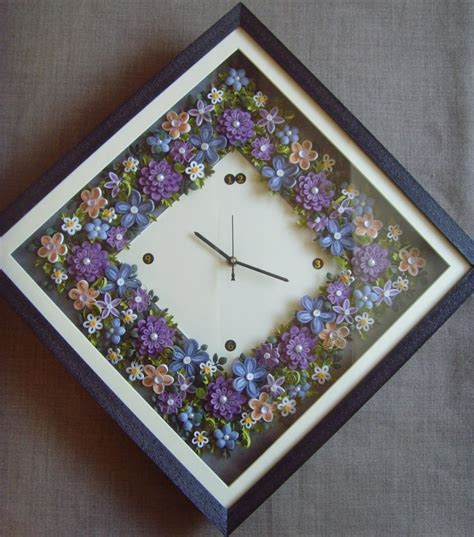 handmade quilling wall clock shopping
