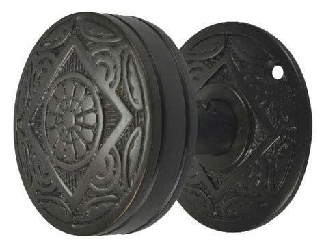 Rubbed Bronze Door Knobs With Backplates by Solid Brass Eastlake Floral Dummy Door Knob And Backplate