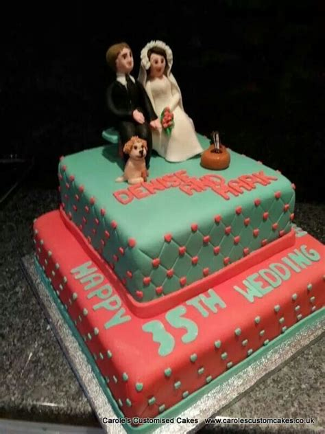 Jade Wedding Anniversary Gift Ideas by Coral And Jade 35th Wedding Anniversary Celebration Cake