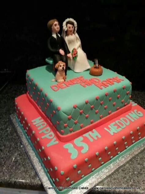 Wedding Anniversary Jade by Coral And Jade 35th Wedding Anniversary Celebration Cake
