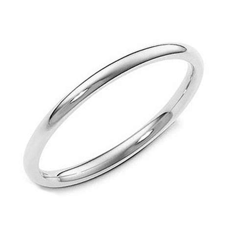 sterling silver 2mm high plain dome tarnish