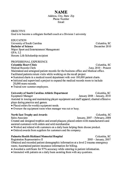 Football Coach Resume by Exle Of Football Coach Resume Http Exleresumecv
