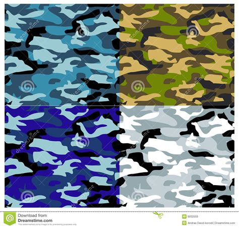 different types of military camouflage patterns daily different types vector camouflage stock vector