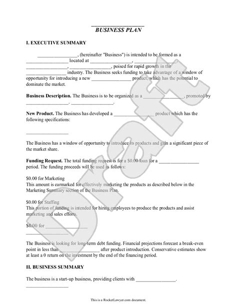 28 business plan template for kids lesson plan