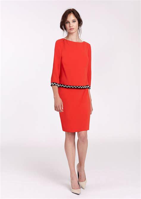 vestidos tres cuartos vestido rojo tres cuartos