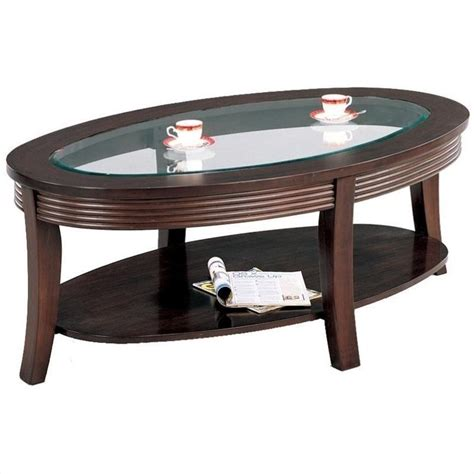 Coaster Glass Coffee Table Coaster Coffee Table With Glass Top In Cappuccino 5525