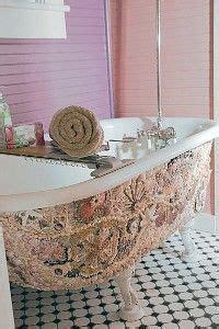 decor hacks seashell mosaic claw foot bath tub