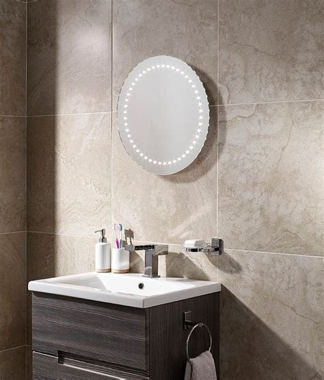 round bathroom mirror with lights round 500mm led illuminated bathroom mirror with if sensor