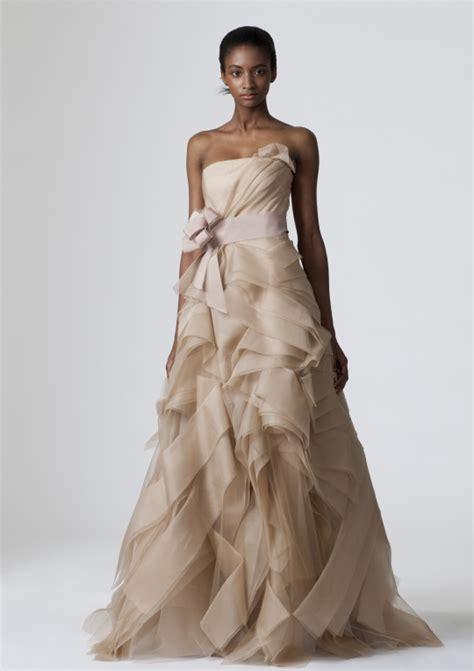 Brautkleider Beige by Strapless Beige Vera Wang A Line Wedding Dress Onewed