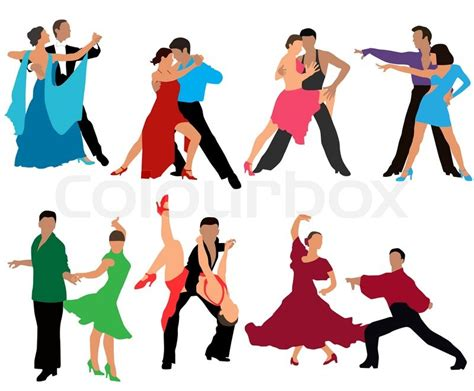 different types of swing dancing dancing couples different styles of dance color vector