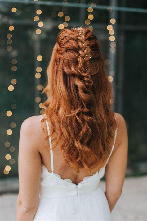Brautfrisur Lange Haare Halboffen 5232 by Die Besten 25 Frisuren Halboffen Ideen Auf