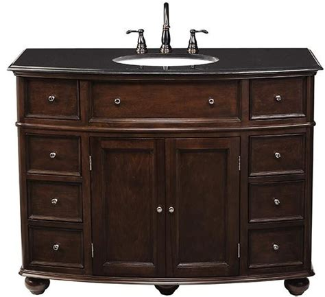 hton bay curved bath vanity traditional bathroom