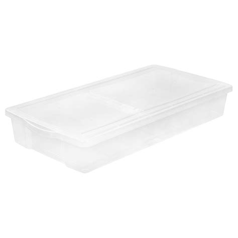 Home Depot Lid by Iris 58 Qt Split Lid Underbed Storage Box In Clear 100501