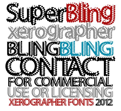 xerographer dafont superbling font dafont com