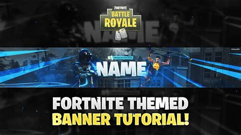 tutorial     fortnite themed youtube banner