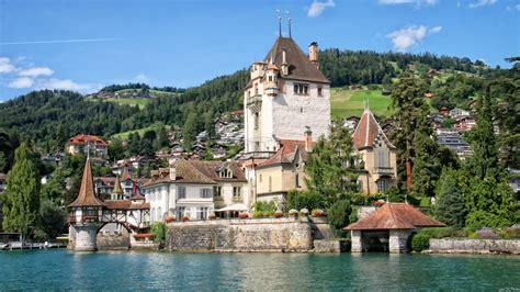 lade thun hd wallpaper castle oberhofen travel attractions lake