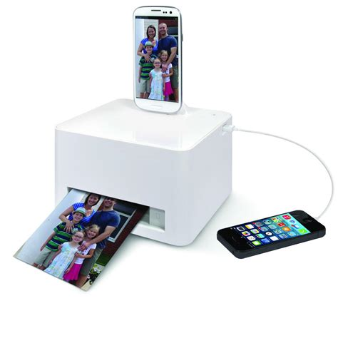 android phone printer the android smartphone photo printer from hammacher schlemmer
