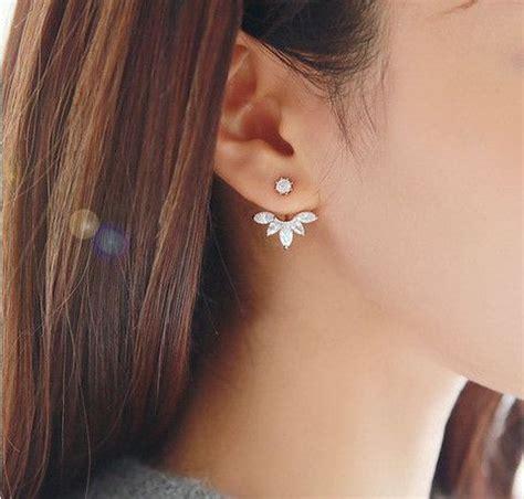 Ear Jackets flower ear jacket ear cuff ear climbers leaf ear
