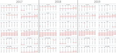 Calendrier 2017 Cong S Scolaires Calendrier Scolaire 2019 28 Images Vacances Scolaires