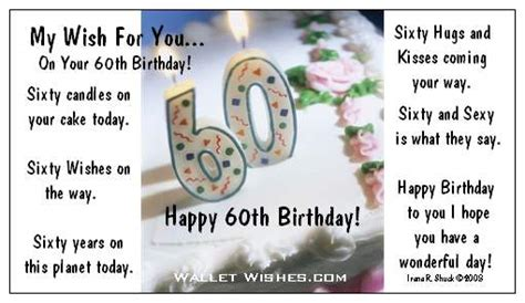 Happy Birthday Quotes For 60 Years Birthdays Wallet Wishes