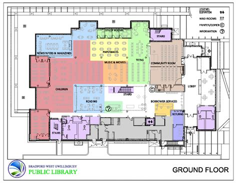 floor plan of library floorplan bradford west gwillimbury library