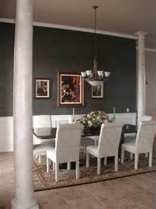 dining room accent wall black plaster accent wall dining room