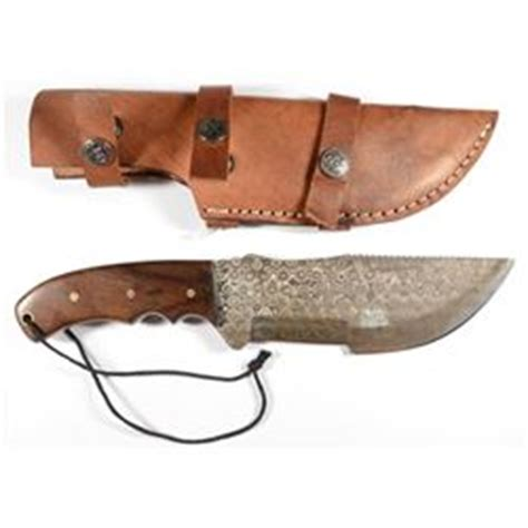 knife rare pattern 10 quot rare rain drop pattern damascus steel tracker knife