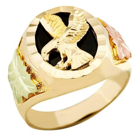 landstrom's® mens black hills gold 10k eagle ring with