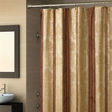 White Bathroom Designs by Gold Shower Curtain Ideas The Homy Design