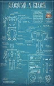 build your own blueprint build your own mech blueprints for diy pinterest