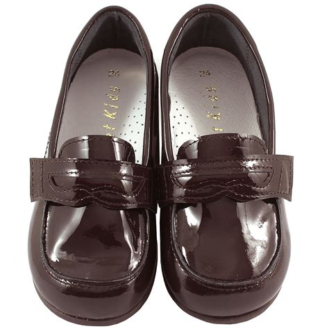 patent loafer shoes boys chocolate brown patent loafer shoes cachet