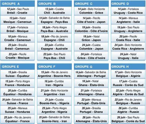 Calendrier Cdm 2018 Coupe Du Monde 2014 Au Br 233 Sil Du 12 Juin Au 13 Juillet