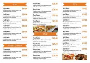 Tri Fold Restaurant Menu Templates Free by Tri Fold Free Restaurant Menu Psd Template Design Sparkle