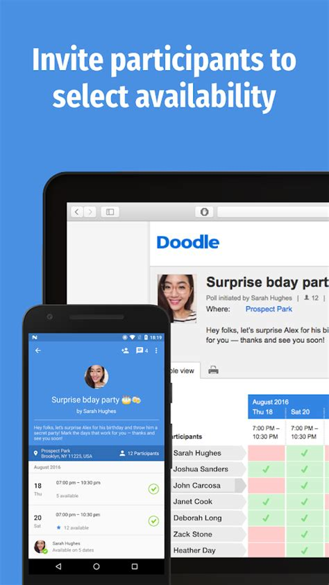 how to add participants on doodle doodle easy scheduling android apps on play