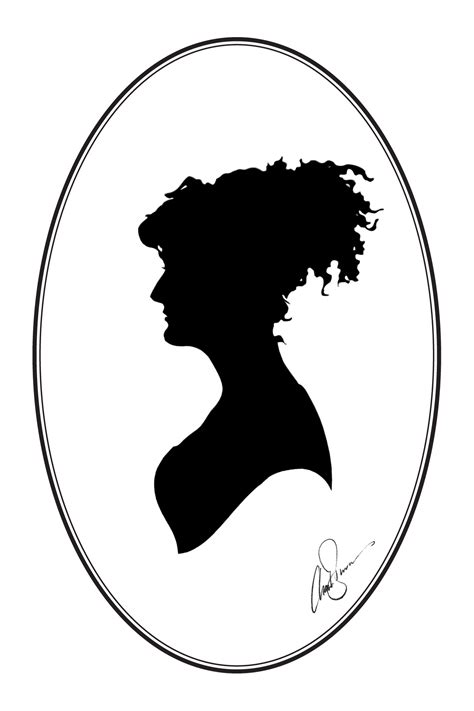 Cameo Oval Classic classic cameos silhouettes and the roving artist