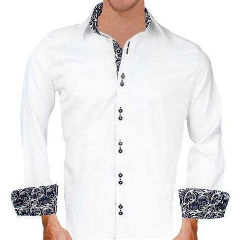 design dress shirts white with black paisley dress shirts