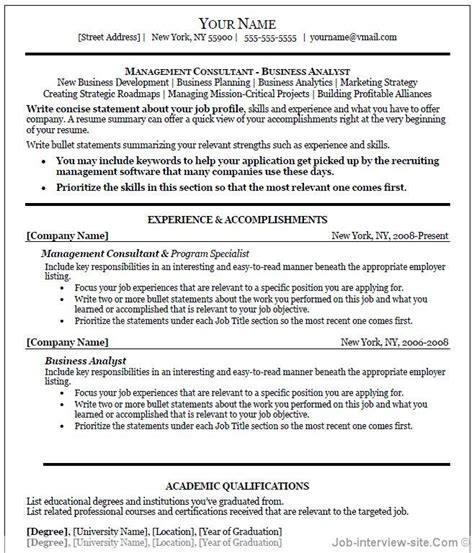 It Professional Resume Templates In Word by Professional Resume Template Word Learnhowtoloseweight Net
