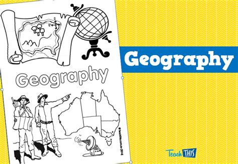 geography title page printable title pages for primary