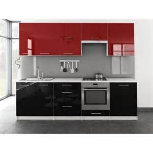 cuisine noir pas cher cuisine compl 232 te en kit de 2m60 toro bi color noir et pas cher laqu 233 brillant