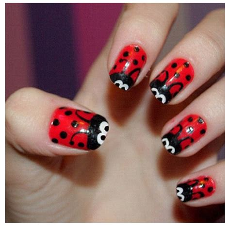 cute easy lady bug nail art youtube lady bug nails nail art pinterest