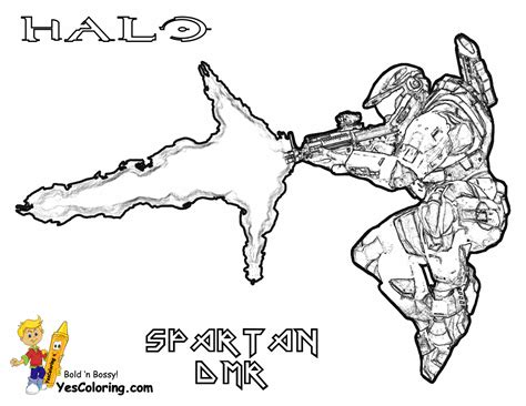 Halo Reach Spartan Coloring Pages Coloring Pages Spartan Coloring Pages